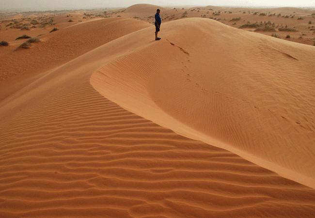 Desert scenery in Mauritania